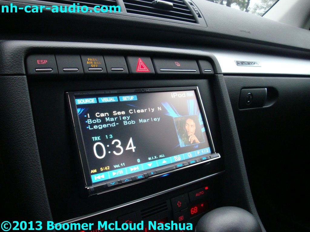 Audi-A4-custom-fitted-navigation-DDIN-multimedia