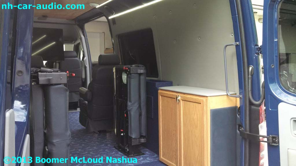 Mercedes-Sprinter-Van-Custom-wood-trimmed-interior-custom-seating
