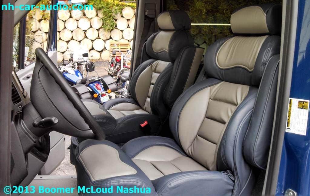 Mercedes Sprinter Van Custom Leather Seats Boomer Mcloud Nh