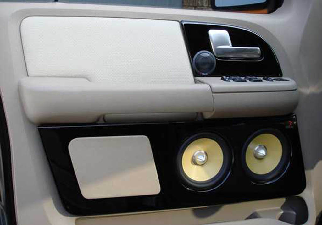 Ford Expedition Custom Speaker Front Door Panel Boomer