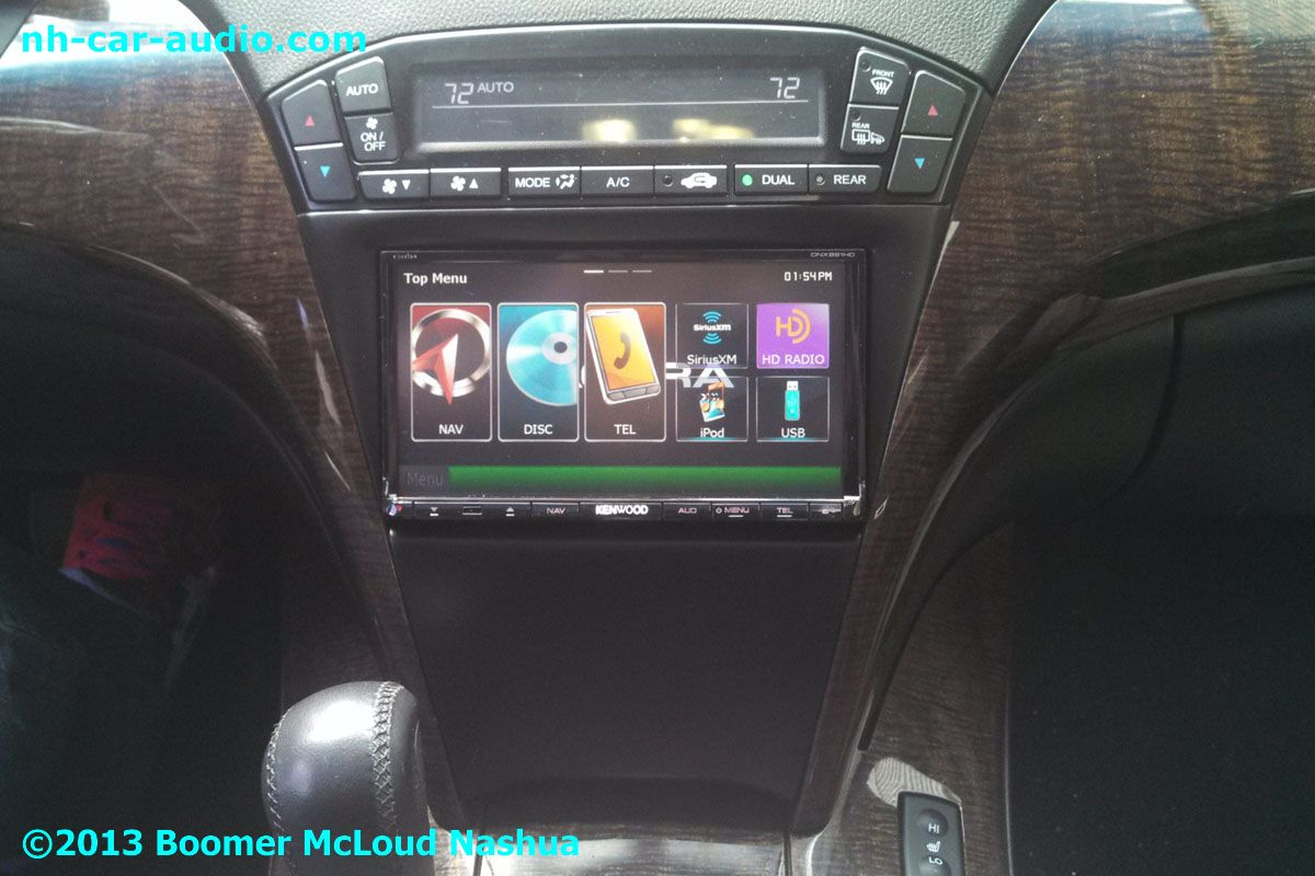2012-Acura-MDX-double-din-aftermarket-radio-custom-installation - Boomer Nashua Mobile Electronics