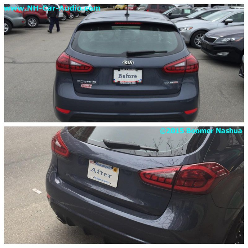 Kia Forte 5 Before And After Debadge Rear Boomer Mcloud Nh