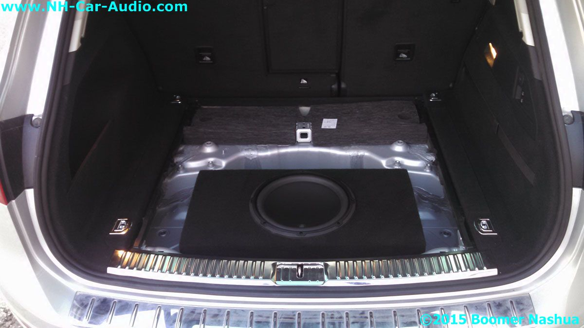 Vw Tiguan 12 Inch Subwoofer In Spare Tire Well Boomer